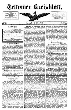 Teltower Kreisblatt on Mar 6, 1886