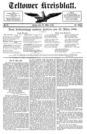 Teltower Kreisblatt vom 20.03.1886