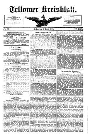 Teltower Kreisblatt vom 01.04.1886