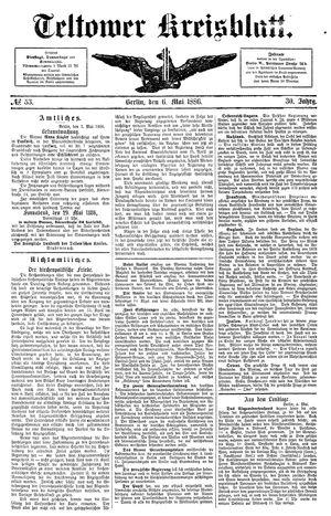 Teltower Kreisblatt vom 06.05.1886