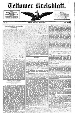 Teltower Kreisblatt vom 15.05.1886