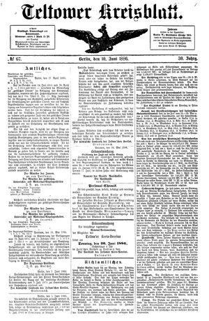 Teltower Kreisblatt vom 10.06.1886