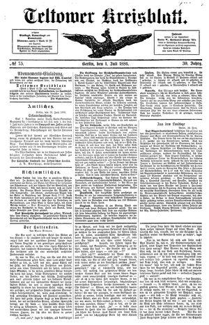 Teltower Kreisblatt vom 01.07.1886