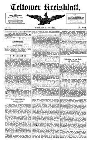 Teltower Kreisblatt vom 06.07.1886