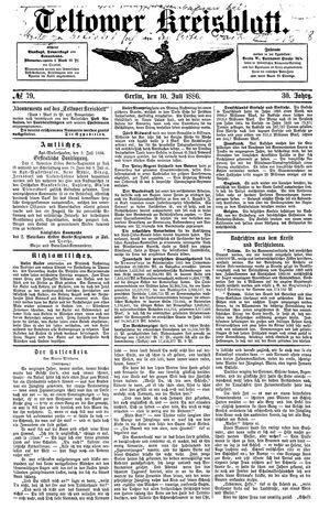 Teltower Kreisblatt vom 10.07.1886