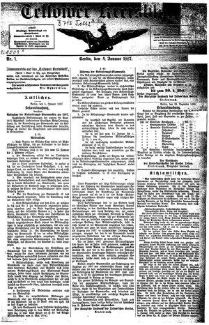 Teltower Kreisblatt vom 04.01.1887