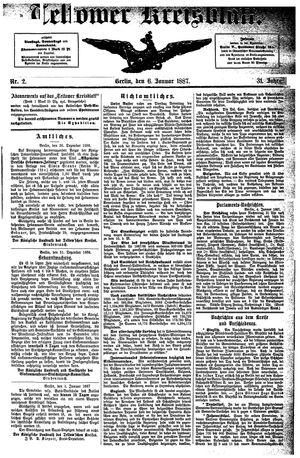 Teltower Kreisblatt vom 06.01.1887