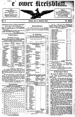 Teltower Kreisblatt on Jan 8, 1887