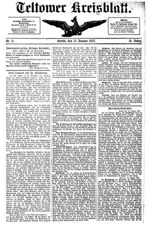 Teltower Kreisblatt vom 15.01.1887