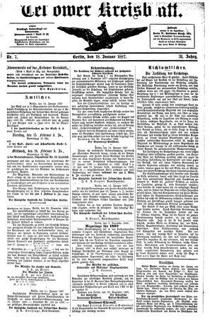 Teltower Kreisblatt vom 18.01.1887