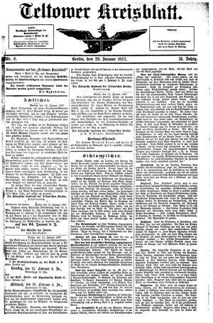 Teltower Kreisblatt vom 20.01.1887
