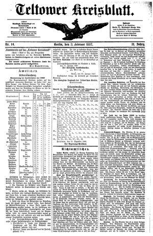 Teltower Kreisblatt vom 03.02.1887