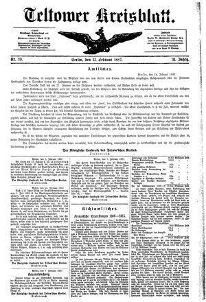 Teltower Kreisblatt on Feb 15, 1887