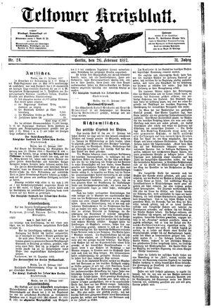 Teltower Kreisblatt vom 26.02.1887