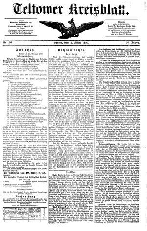 Teltower Kreisblatt vom 03.03.1887