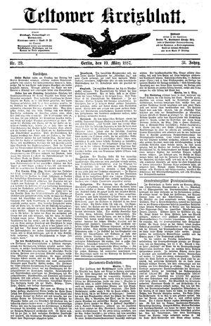 Teltower Kreisblatt vom 10.03.1887