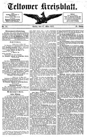 Teltower Kreisblatt vom 17.03.1887