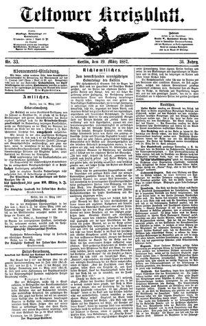 Teltower Kreisblatt vom 19.03.1887