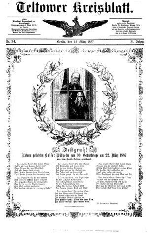 Teltower Kreisblatt vom 22.03.1887
