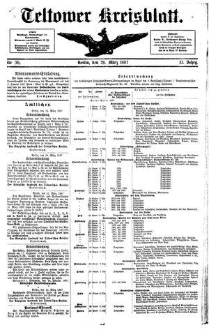 Teltower Kreisblatt vom 26.03.1887