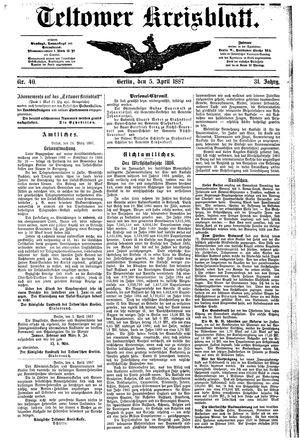 Teltower Kreisblatt vom 05.04.1887