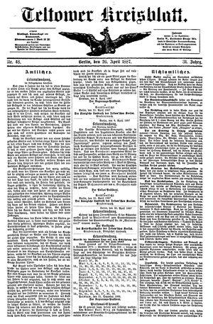 Teltower Kreisblatt vom 26.04.1887