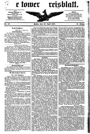 Teltower Kreisblatt vom 30.04.1887