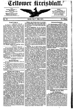 Teltower Kreisblatt vom 07.05.1887