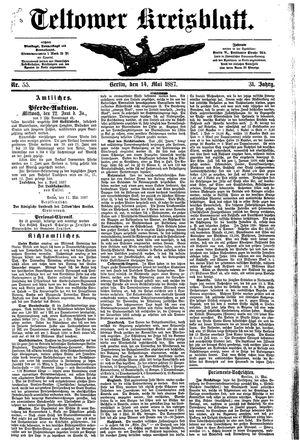 Teltower Kreisblatt vom 14.05.1887