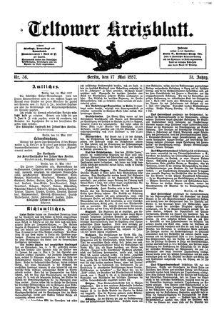 Teltower Kreisblatt vom 17.05.1887