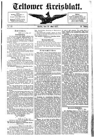 Teltower Kreisblatt on May 19, 1887