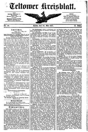 Teltower Kreisblatt vom 24.05.1887