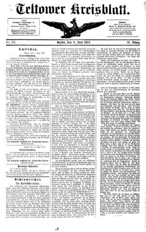Teltower Kreisblatt vom 04.06.1887