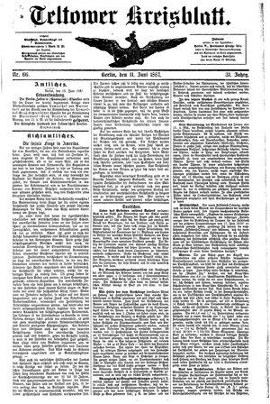 Teltower Kreisblatt vom 11.06.1887