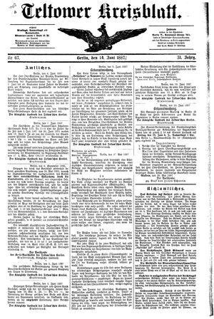 Teltower Kreisblatt vom 14.06.1887