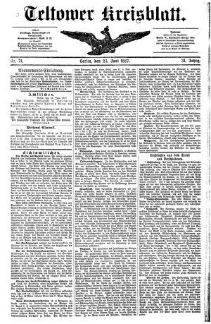 Teltower Kreisblatt vom 23.06.1887