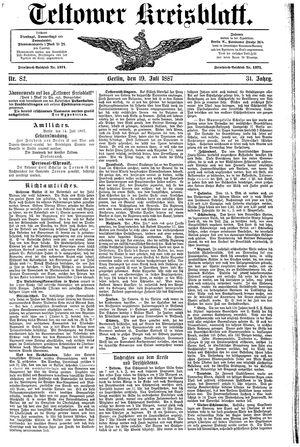 Teltower Kreisblatt vom 19.07.1887