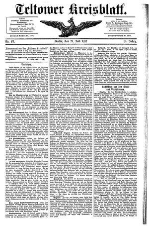 Teltower Kreisblatt vom 21.07.1887