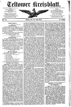 Teltower Kreisblatt vom 26.07.1887