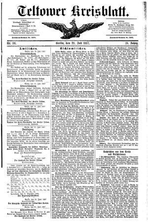 Teltower Kreisblatt vom 28.07.1887