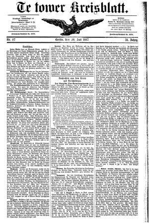 Teltower Kreisblatt vom 30.07.1887