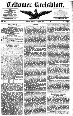 Teltower Kreisblatt vom 04.08.1887