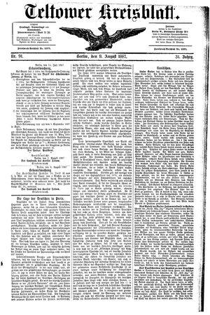 Teltower Kreisblatt vom 09.08.1887
