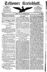 Teltower Kreisblatt (27.09.1887)