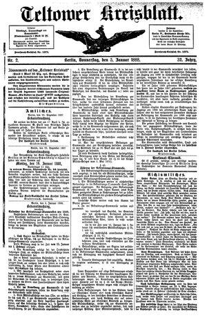 Teltower Kreisblatt vom 05.01.1888