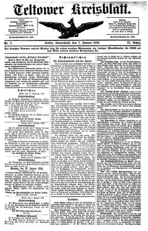 Teltower Kreisblatt on Jan 7, 1888