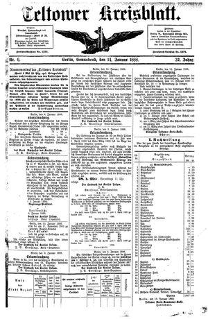 Teltower Kreisblatt vom 14.01.1888