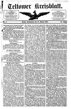 Teltower Kreisblatt vom 21.01.1888