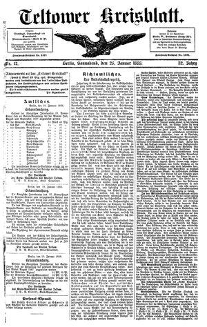 Teltower Kreisblatt vom 28.01.1888