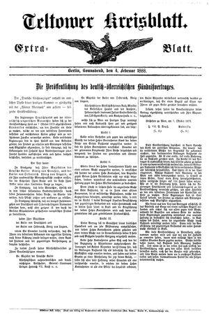 Teltower Kreisblatt vom 04.02.1888